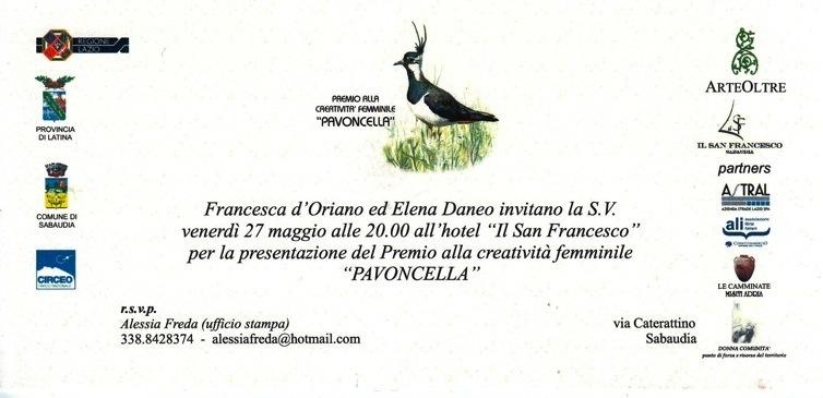 Invito Premio Pavoncella I Edizione