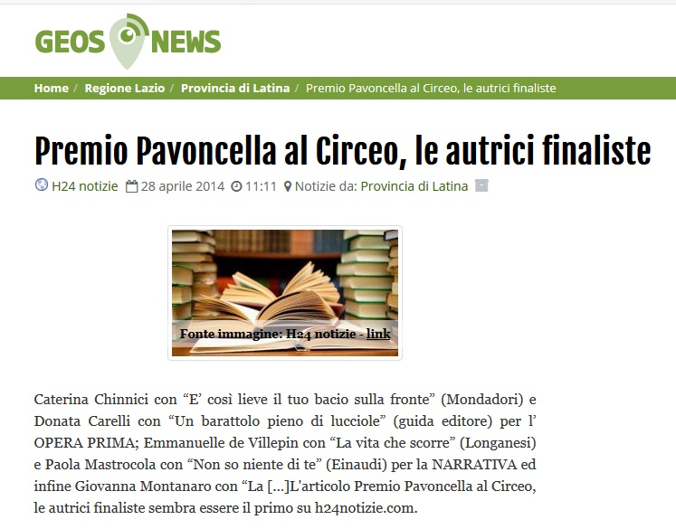 Geos News: 28 Aprile 2014