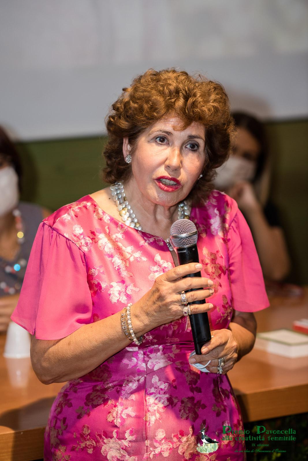 Lucia Vedani durante la premiazione