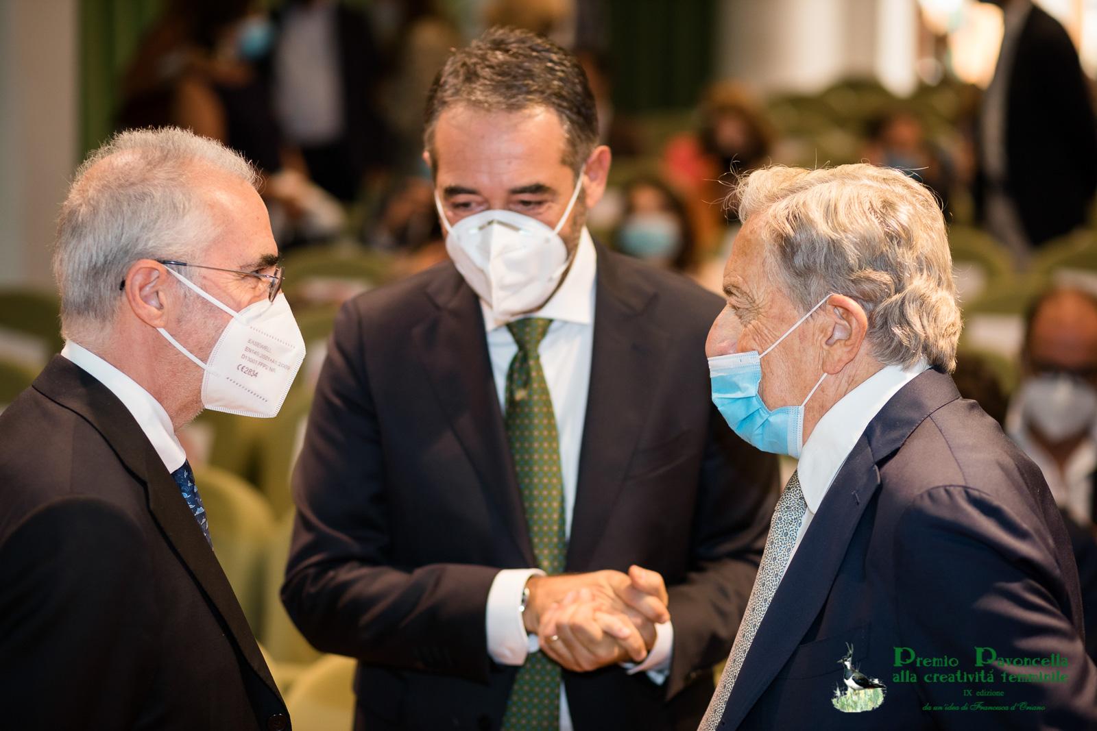 Il Presidente della Cassazione,Pietro Curzio, il prof. Michele Guarino, il Presidente del Campus Bio Medico, Paolo Arullani