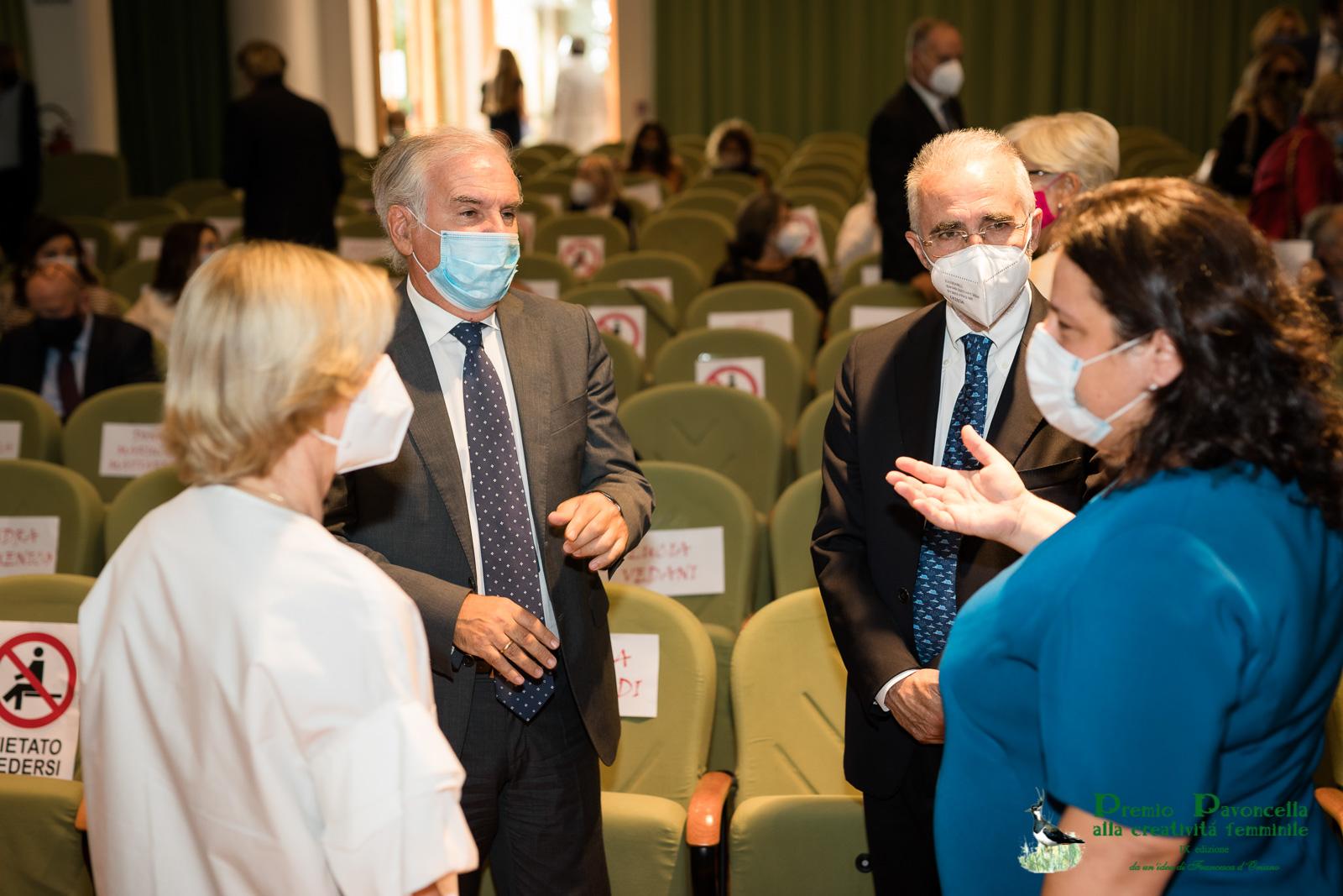 Anna Maria Tosto, il Prefetto di Latina Falco, il Presidente della Cassazione Curzio ed il sindaco di Sabaudia, Giada Gervasi