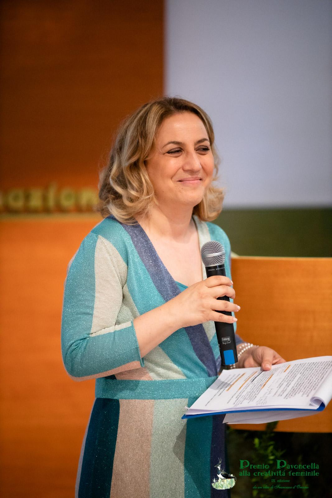 La giornalista Rai, Isabella Di Chio, brillante conduttrice della serata