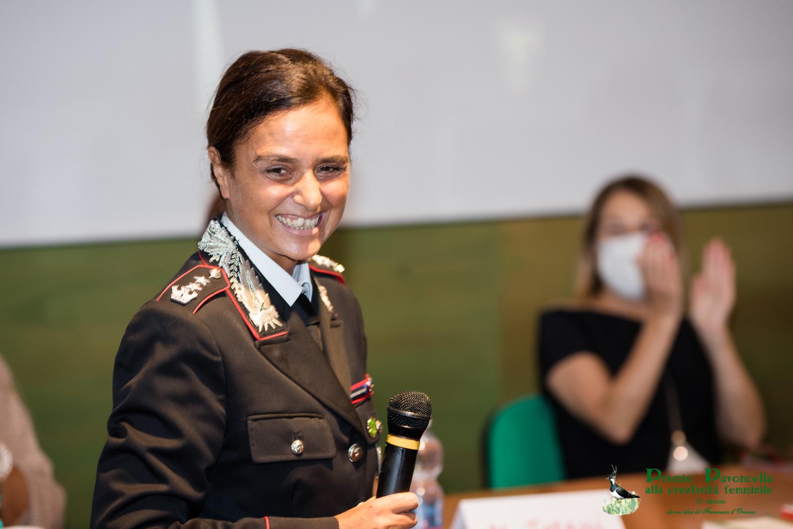 Il ten. Colonnello dei Carabinieri Forestali, Sandra Di Domenico
