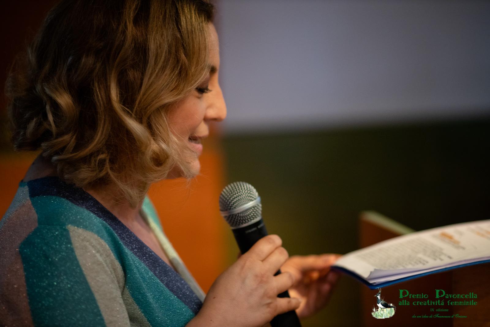 Isabella Di Chio, inviata e conduttrice di TgR Lazio, in un momento della cerimonia di premiazione
