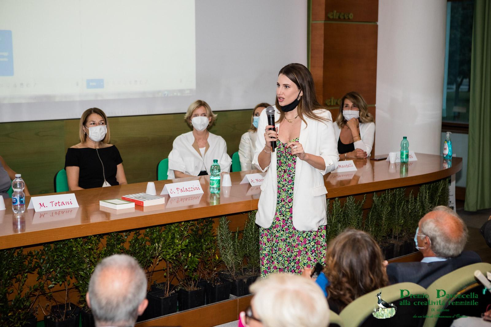 Ottavia di Capua Mattarella dopo aver premiato, via zoom, Marta Rizzato