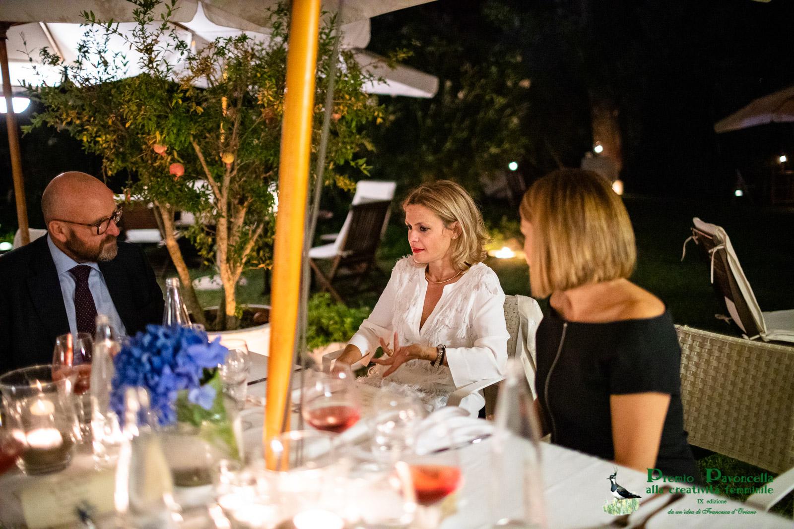 L'avv. Grazia Maria Mantelli con Domenico Giani e Chiara Palazzini