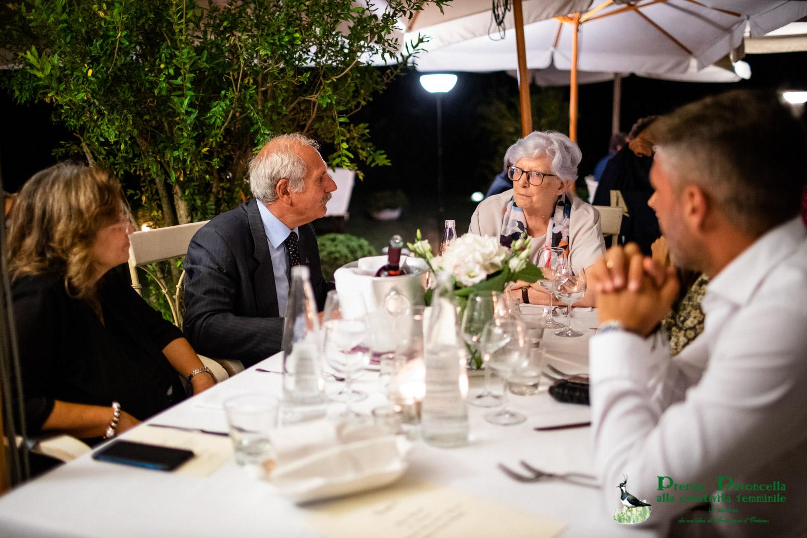 Il presidente Antonio Ricciardi e la senatrice Paola Binetti in un momento della serata di gala al San Francesco