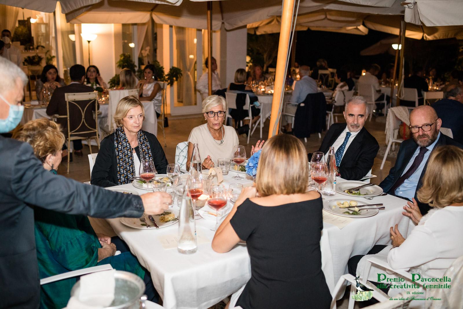 Anna Maria Tosto, Silvana Sciarra, Pietro Curzio e Domenico Giani durante la serata al San Francesco