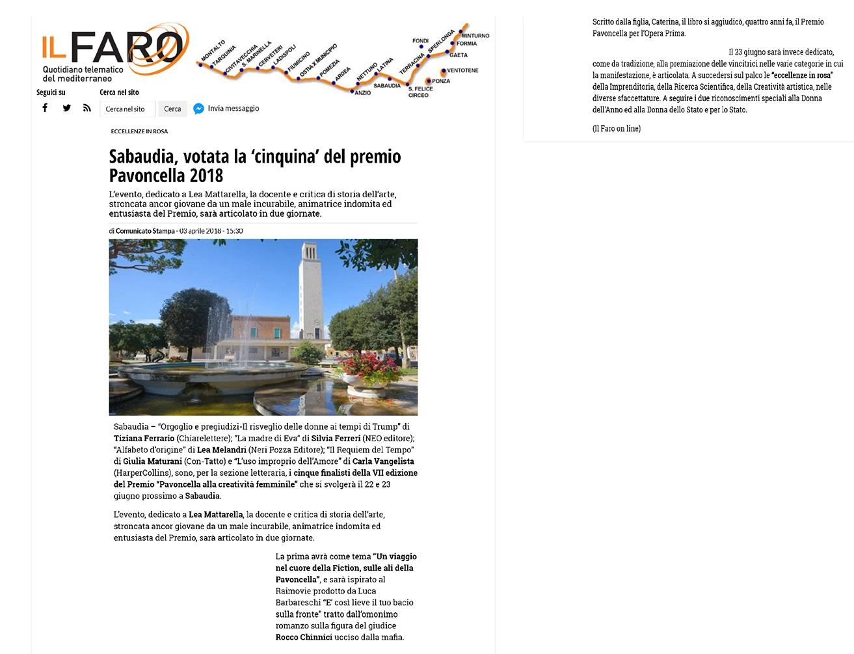 Il Faro: 3 Aprile 2018
